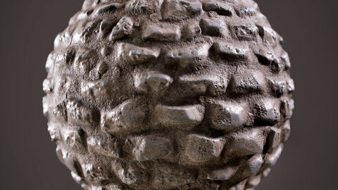 PBR - MEDIEVAL OR CAVE STYLE ROCK WALL - 4K MATERIAL