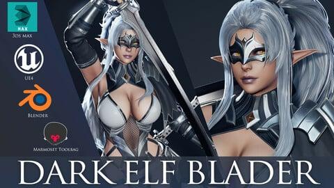 Dark Elf Blader - Game Ready
