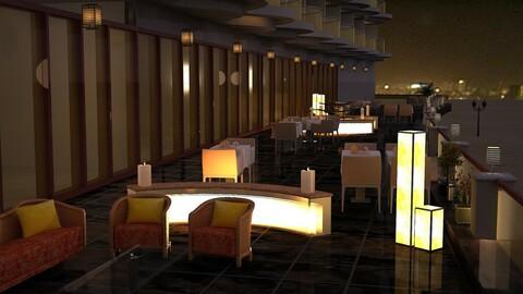 Terrace Restaurant 3D