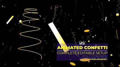 Animated Confetti 3D model