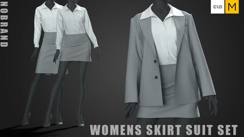 Womens - Skirt Suit Set