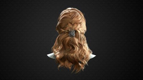 Realtime scandinavian hairstyle