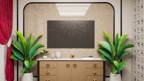 Retro And Modern Interior - UE4 | FBX