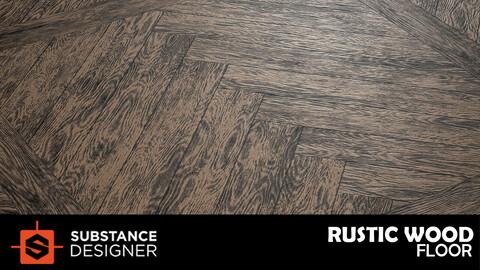 Rustic Wood - Substance Designer