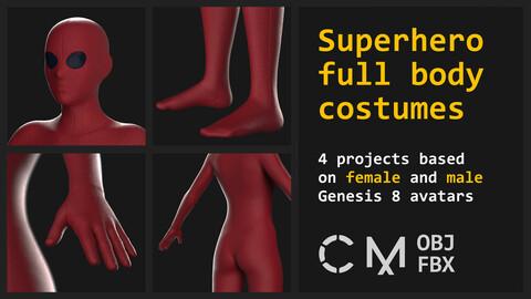 Superhero costumes. Marvelous / Clo 3D / Gen 8 / zprj obj fbx
