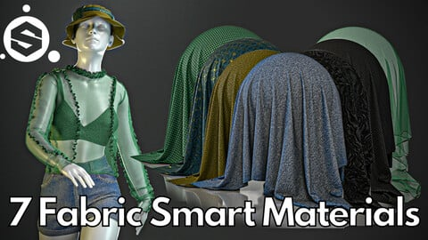 7 Fabric smart material : Second-skin top with a bucket hat