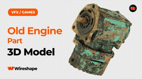 Old Engine Part Raw Scanned 3D Model