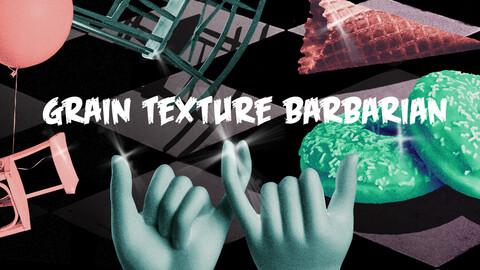Barbarian Grain texture plugin + Free Gradien PSD