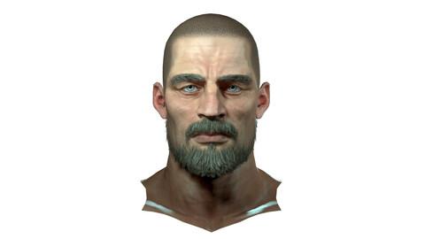 Jake Realistic model of male head