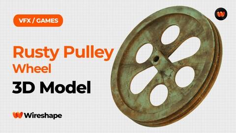 Rusty Pulley Wheel Raw Scanned 3D Model