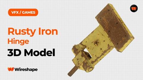 Rusty Iron Hinge Raw Scanned 3D Model