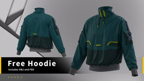 Free hoodie model