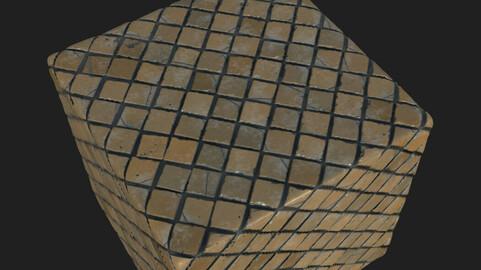 Old ceramic tiles. 2K.