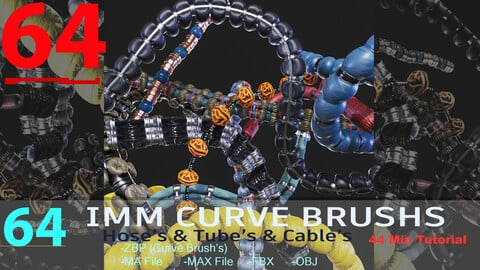 64 IMM Brushe's wrinkled Cables And Wires