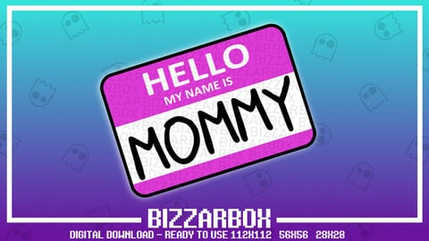 Twitch Emote: Mommy Name Tag