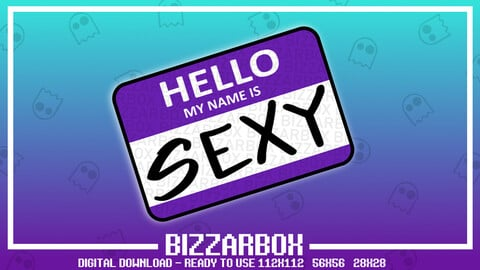 Twitch Emote: Sexy Name Tag