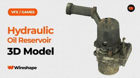 Hydraulic Oil Reservoir Raw Scanned 3D Model