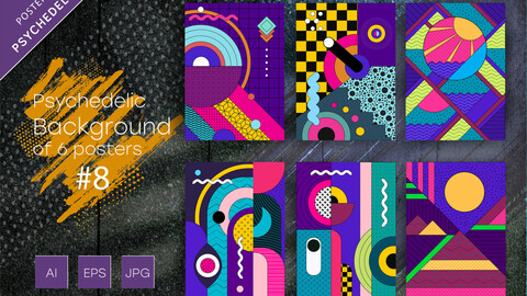 Psychedelic abstract backgrounds  #8