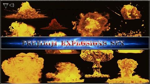 Premium Explosions SFX. Game SFX Asset. Unreal Engine 4.27