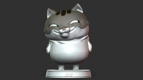 Cat Cartoon 3D print model