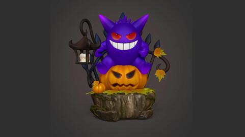 Halloween Gengar Resin Statue