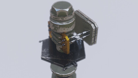 Nuclear Reactor Drive Low-poly 3D model