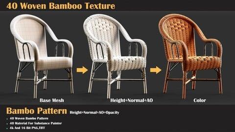 40 Woven Bamboo Texture