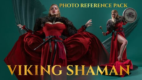 Viking Shaman Photo Reference Pack for Artists 412 JPEGs