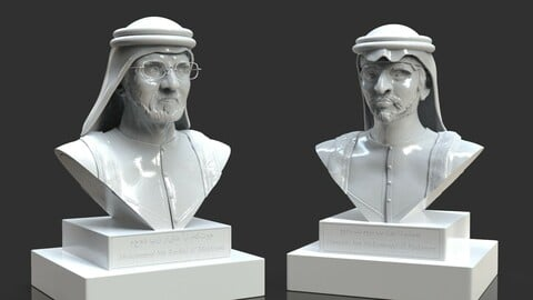 Arab Royal Family Father And Son Bust Pack