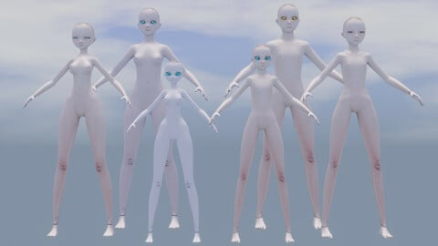 humanoid base anime or cartoon