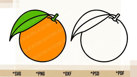 Orange SVG, Orange Cricut Cut File, Orange PNG Printable, pdf, dxf, Orange Digital Download