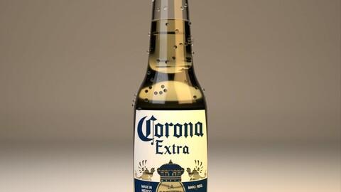 Corona Cereza beer 3D model