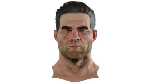 David Realistic model of male head
