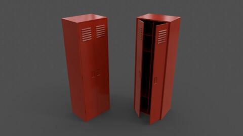 PBR School Gym Locker 09 - Red