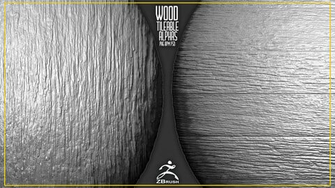 22 Wood Tileable Alphas Vol.5 (ZBrush, Substance)