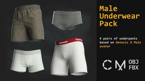 Male underwear pack. MD / CLO 3D / Gen 8 / zprj obj fbx