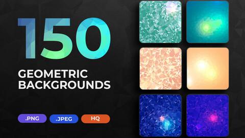 150 Geometric Triangle Backgrounds