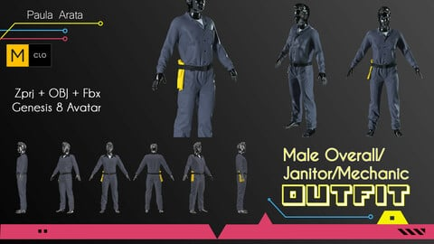 Male Overall/Janitor Marvelous/CLO project + OBJ