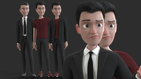CARTOON RIGGED MAN - Cartoon father 3d model