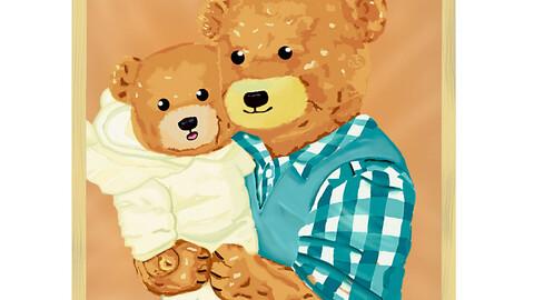 cute bears Father & son