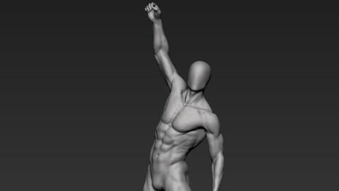 Male Full Body Sculpt Pose 15