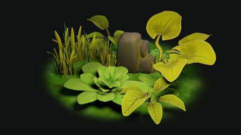 Stylized Water Foliage Pack