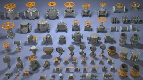 Industrial Kitbash 4 - 70 pieces