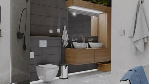 Bathroom series, pt3: walnut