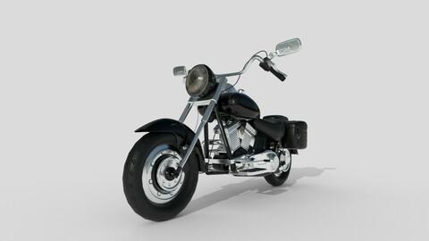 harley davidson Fat Boy Bike 3d model