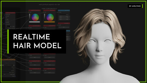 Realtime Hair Model - Hairstyle 002