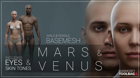 Basemesh bundle: Mars & Venus