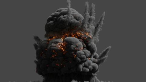 VDB Volcano Explosion