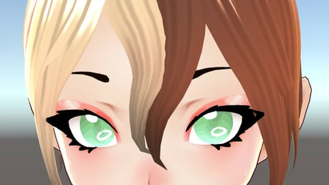 3D cute anime girl character c1