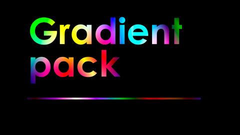 Gradient pack images